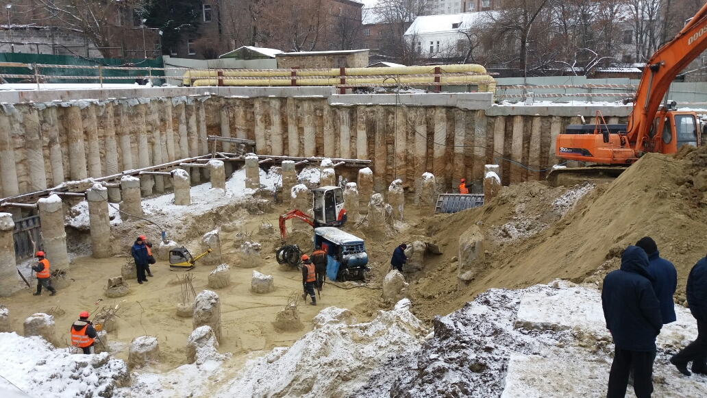 Сложные условия строительства подземных помещений